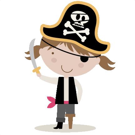 svg stock Girl Pirate SVG cutting file for scrapbooking pirate svg cut file