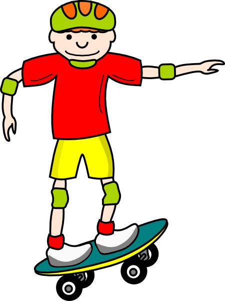 banner freeuse library Girl skateboard clipart. Skate board boy clip
