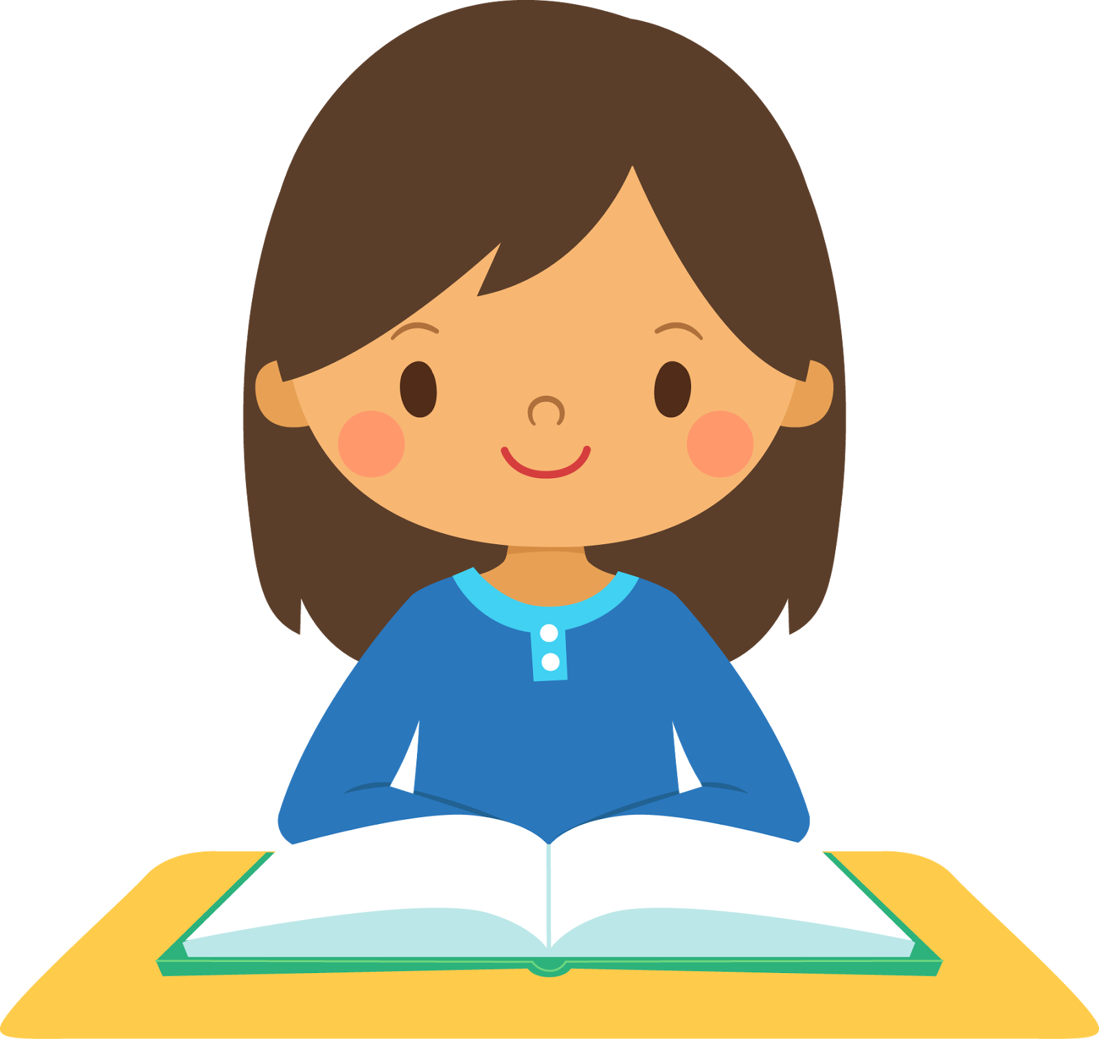 svg freeuse stock Image . Girl student working clipart.