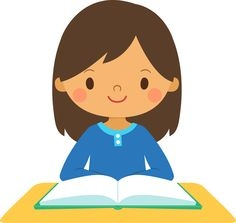 png freeuse download Clip art library . Girl student working clipart.