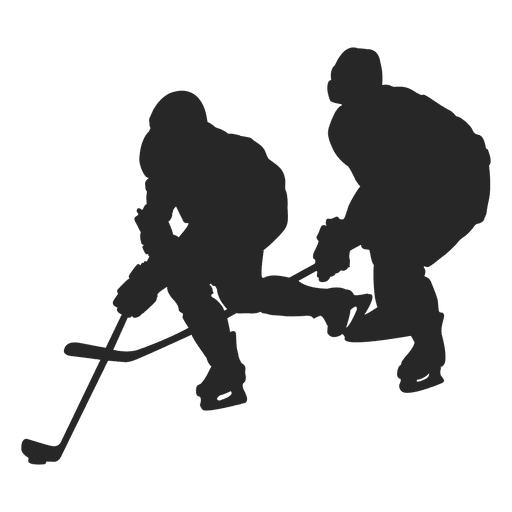 jpg stock Ice hokey players silhouette
