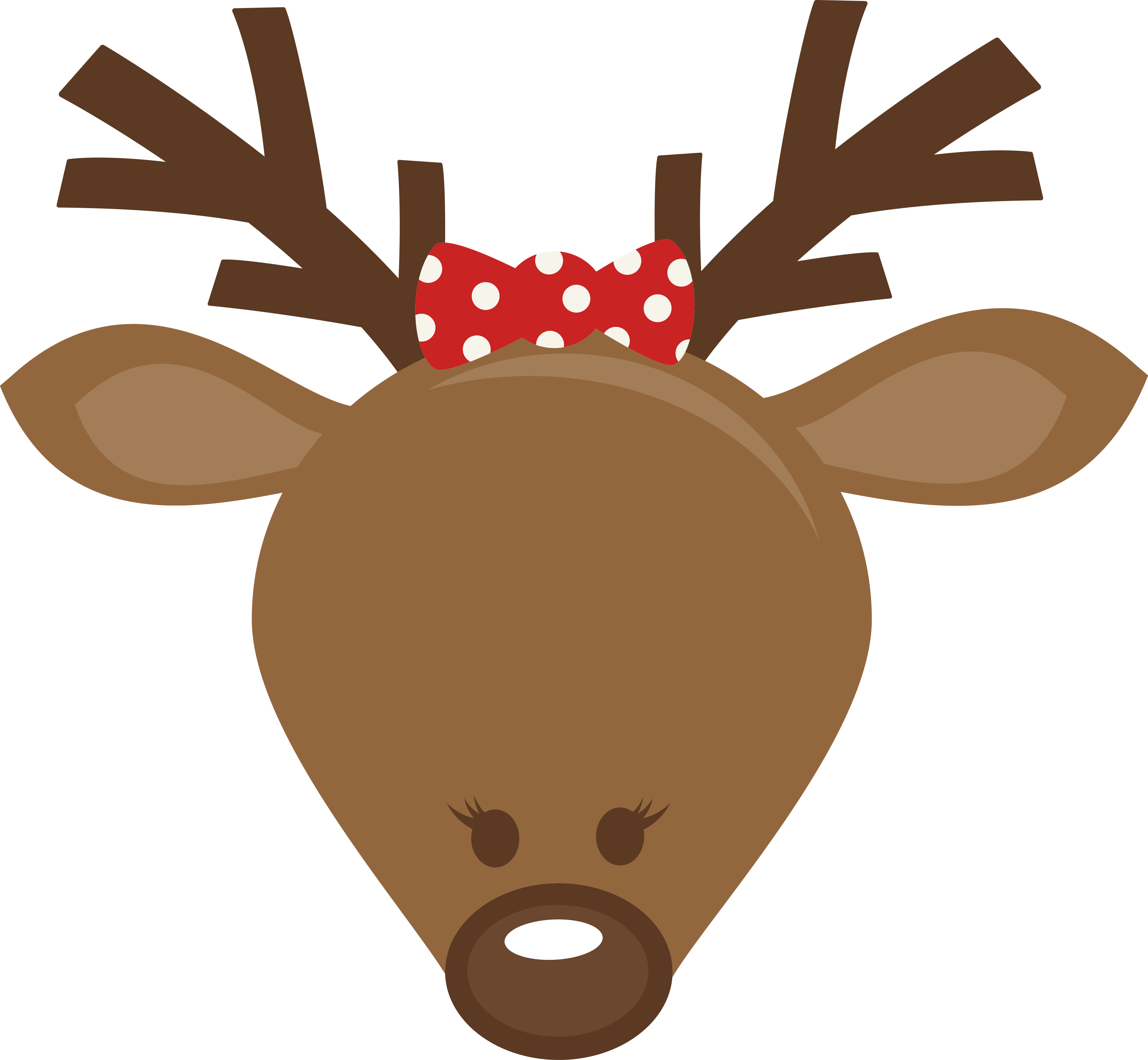 picture royalty free stock Mkc cute head s. Girl svg reindeer