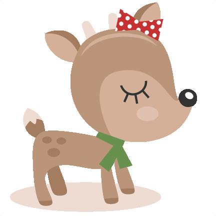 clip art transparent download Girl svg reindeer. Cutting files christmas cut