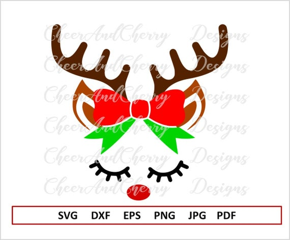 graphic freeuse Face for cricut christmas. Girl svg reindeer