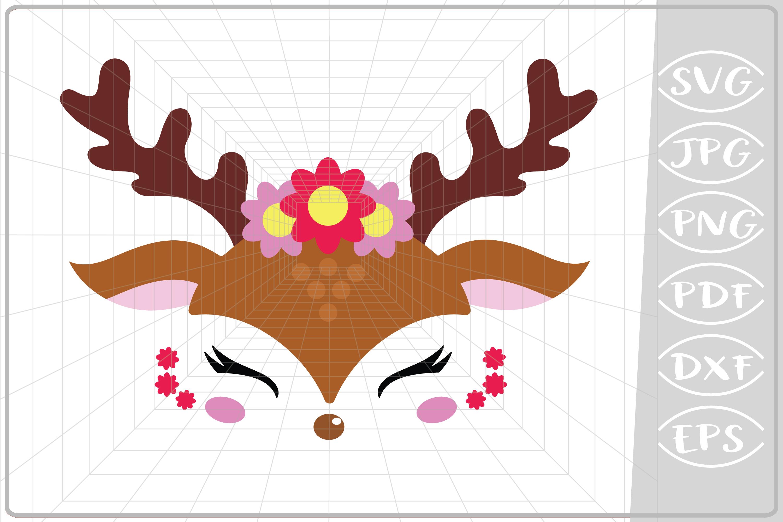 svg royalty free library Girl svg reindeer. Rereindeer