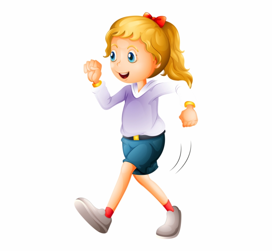 banner freeuse stock Exercise clip art . Girl walking clipart