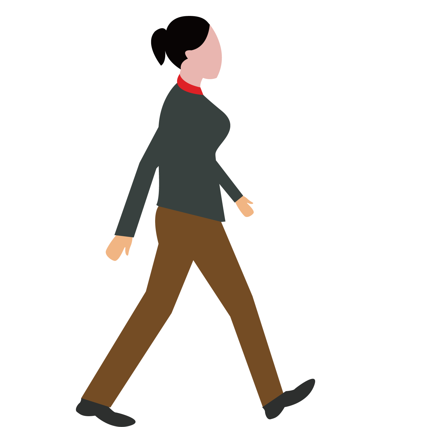 jpg library stock Girl walking dog clipart. Woman transprent png free