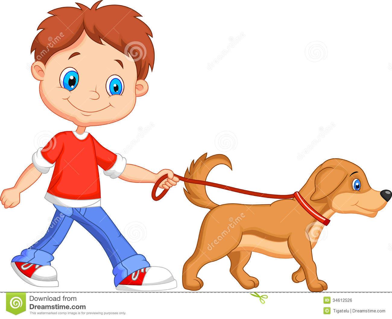 jpg download Girl walking dog clipart. Free cartoon download clip