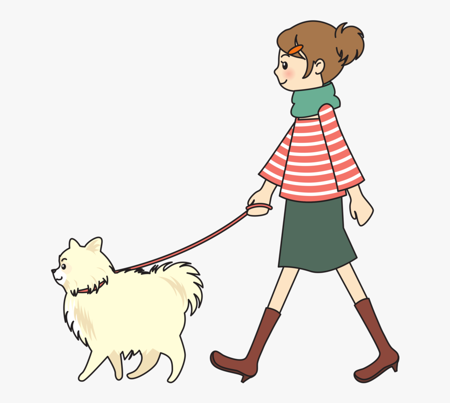 clipart royalty free download Girl walking dog clipart. Dogs person woman a