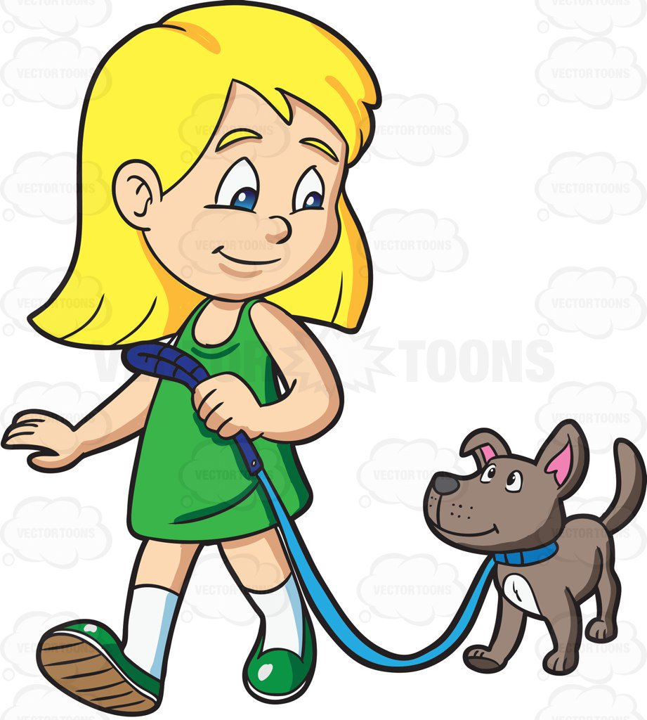 png royalty free Free download best . Girl walking dog clipart