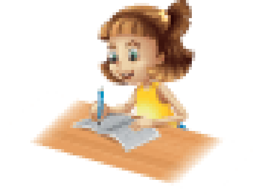 graphic freeuse Happy the arts image. Girl writing clipart