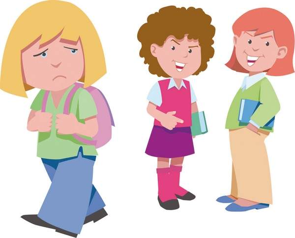 svg library download Girls bullying clipart. Free download on webstockreview