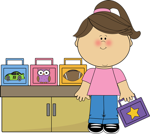 image free Girl lunch box monitor. Lunchbox clipart teacher