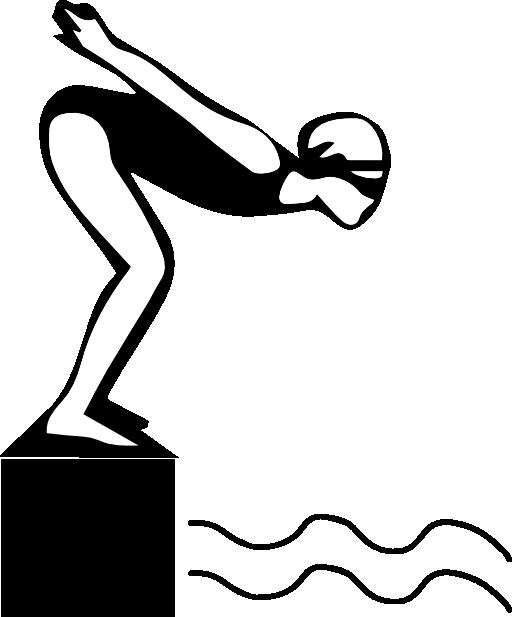 clip art transparent stock Girl Swimming Clipart