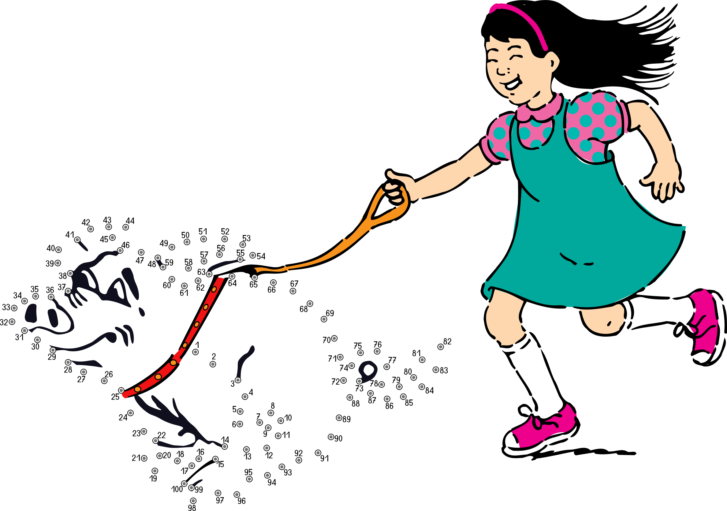 svg download Connect the dots what. Girls walking clipart.