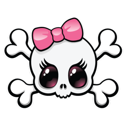 picture royalty free stock Girly clipart. Skull best inspira o.