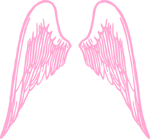 graphic freeuse library Girly clipart. Pink wings clip art