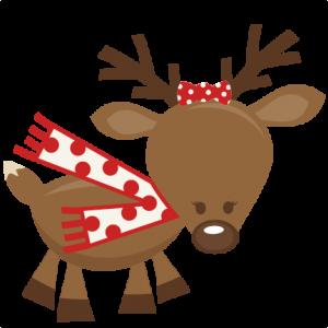 transparent stock Cute cutting files for. Girl svg reindeer