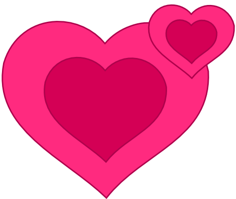 jpg download Girly clipart heart. Hearts pink picasa album