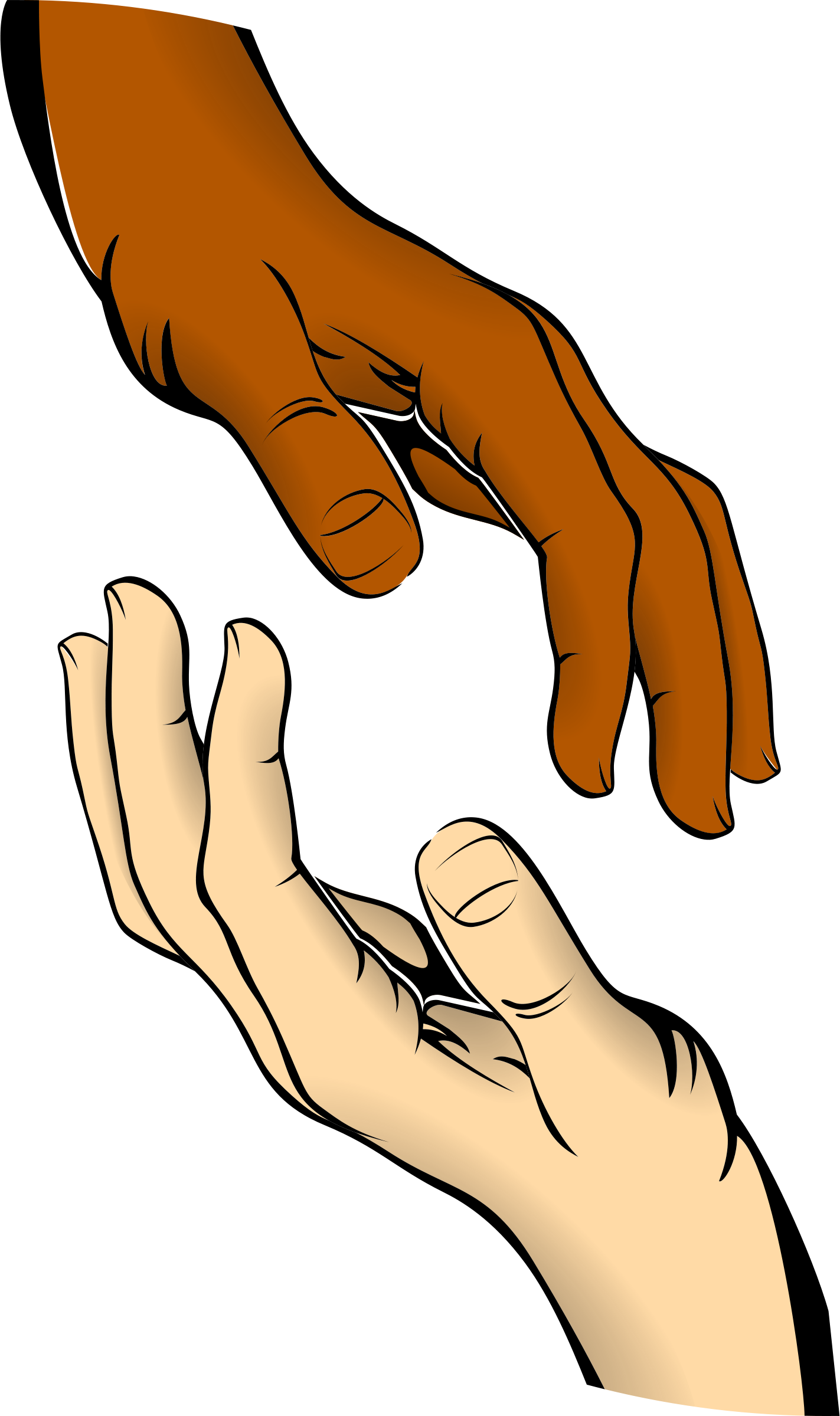 clip black and white library Open giving hands png. Give clipart