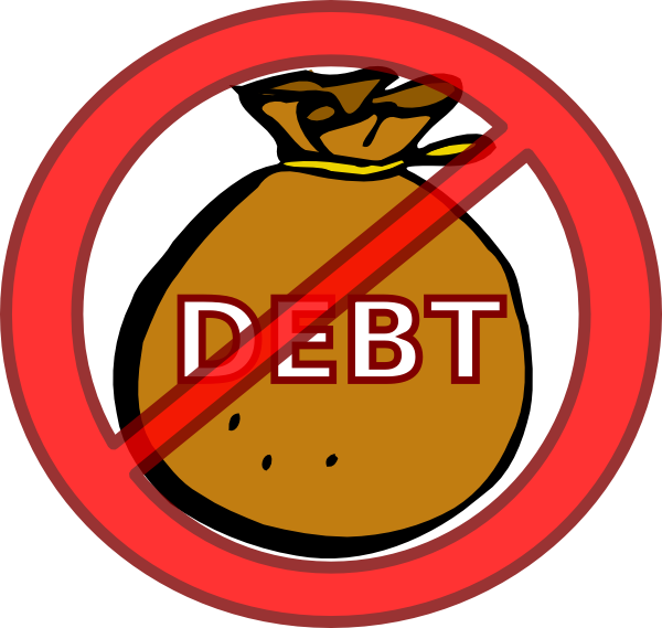 svg black and white Eliminate debt clip art. Poverty clipart debtor