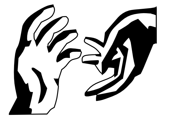 svg free stock Giving Hands Clipart
