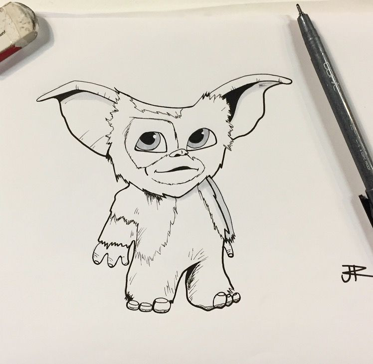 banner free stock Gremlin drawing. Day wet we decided.
