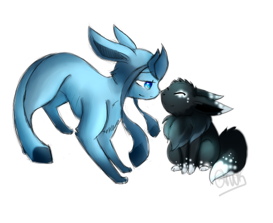 clipart transparent Devani and Nevada the Glaceon and Eevee