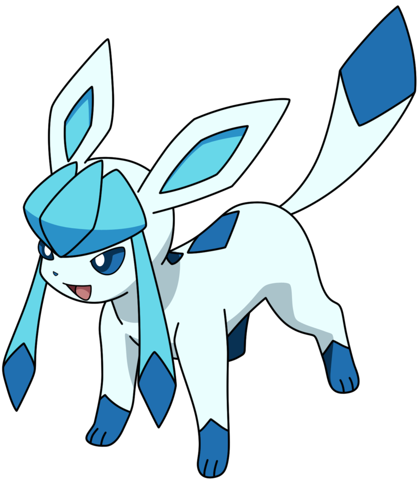 graphic black and white Glaceon