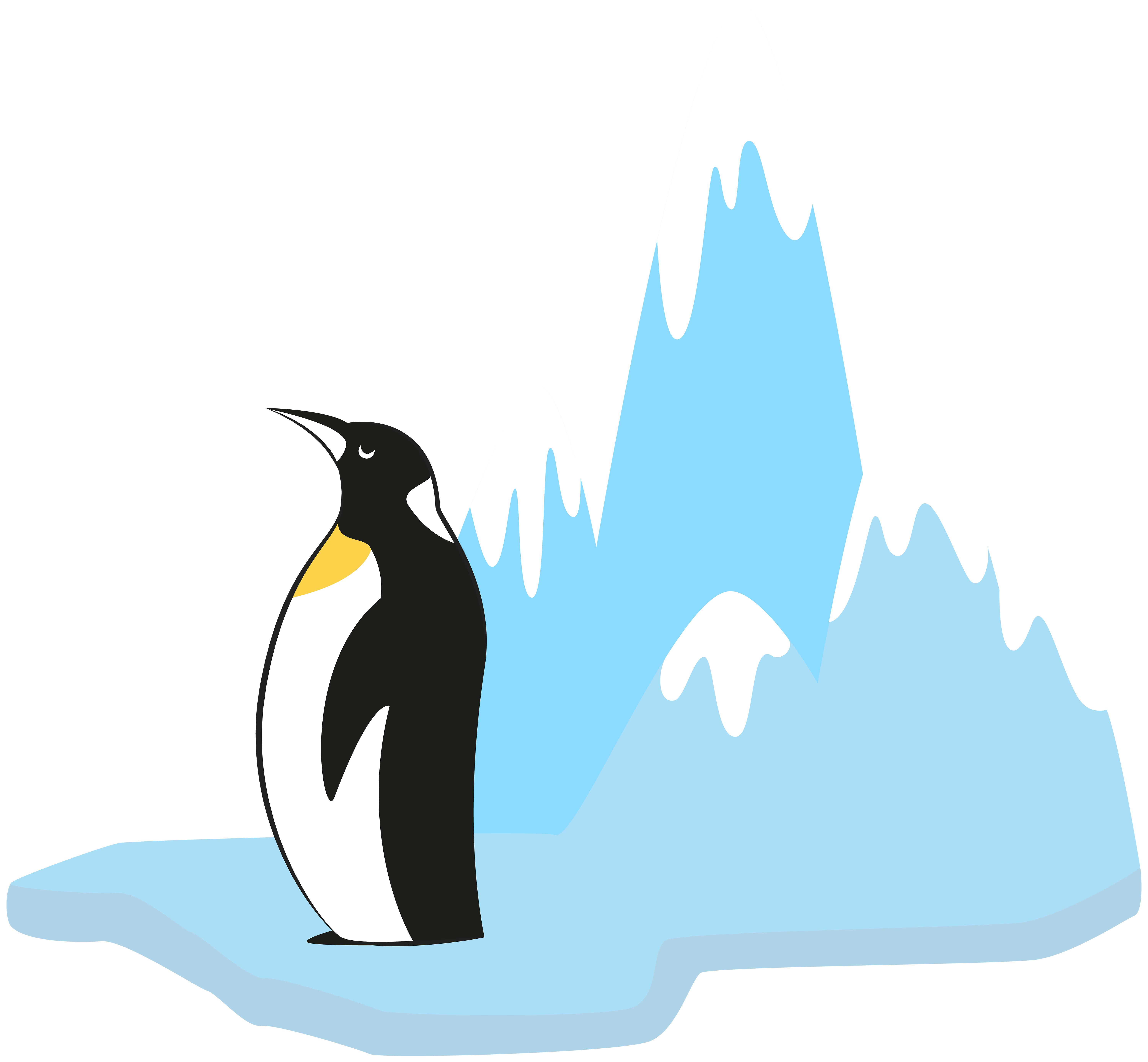 picture free stock Penguin on transparent png. Glacier clipart.