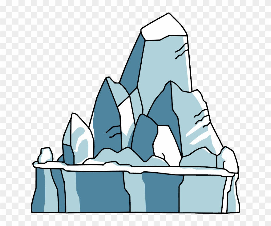 png royalty free library Glacier clipart. Graphic black and white