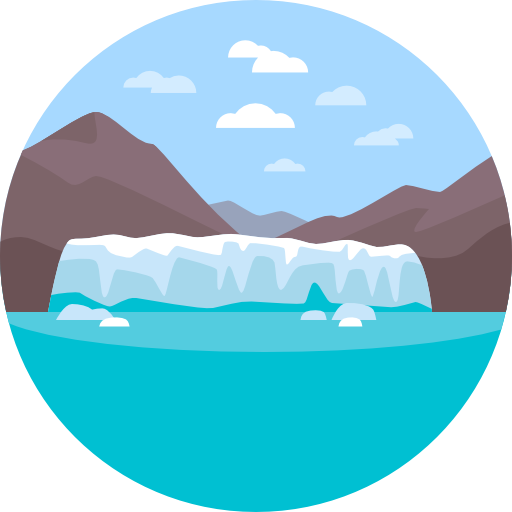 royalty free stock Glacier clipart. Nature landscape scenery icon.