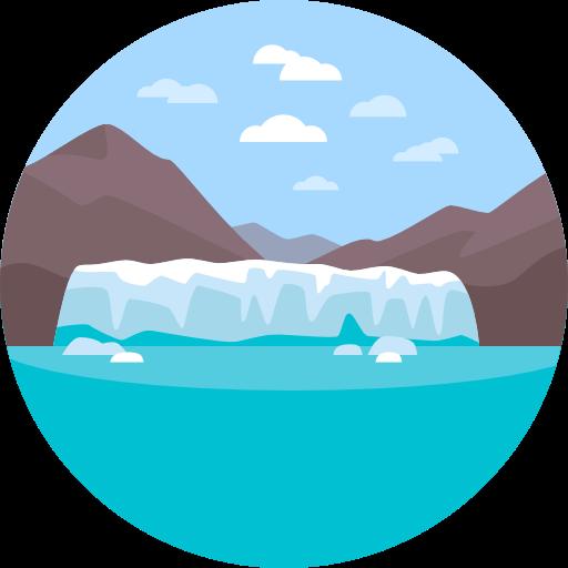 royalty free stock Glacier clipart. Nature landscape scenery icon