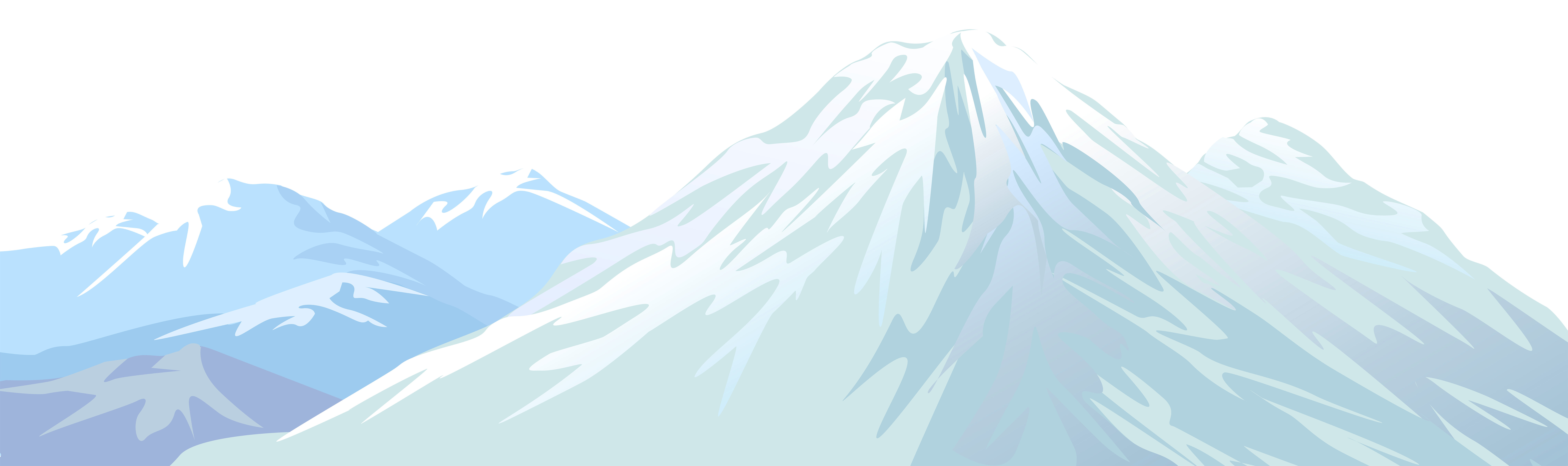 picture free download Mountains clipart sea. Winter snowy mountain transparent.