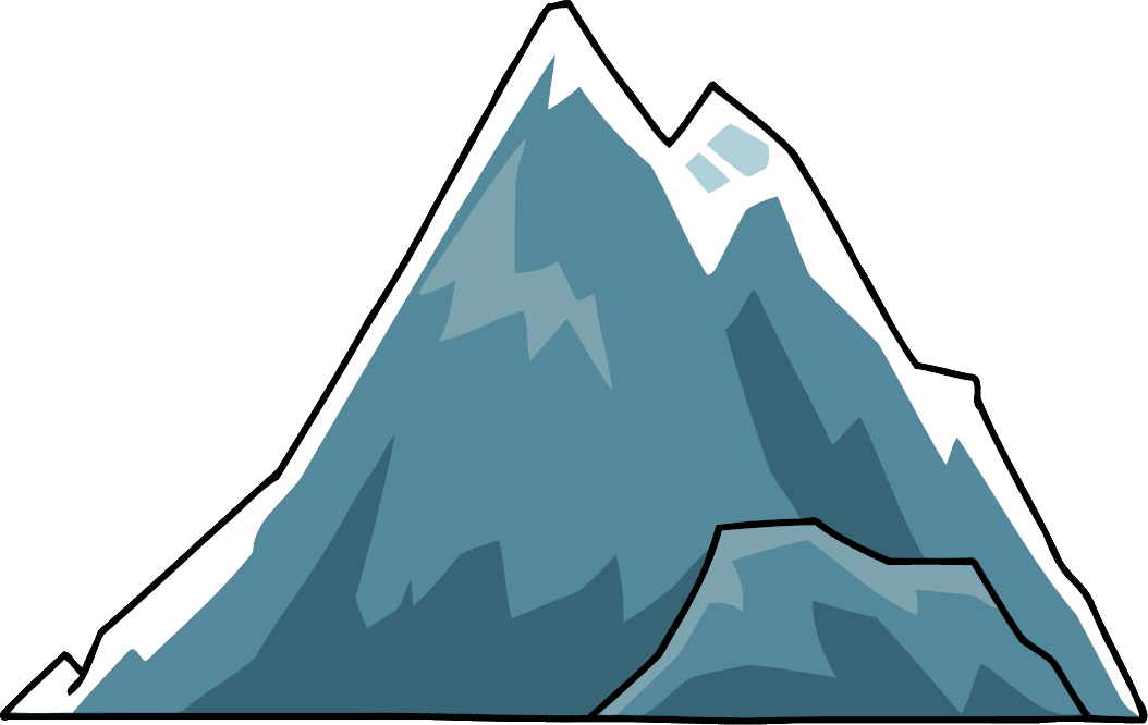 vector free library Clipart mountains black and white. Glacier high mountain free