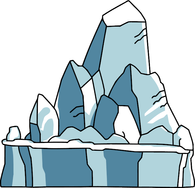 graphic black and white library  collection of iceberg. Ice clipart ice rock