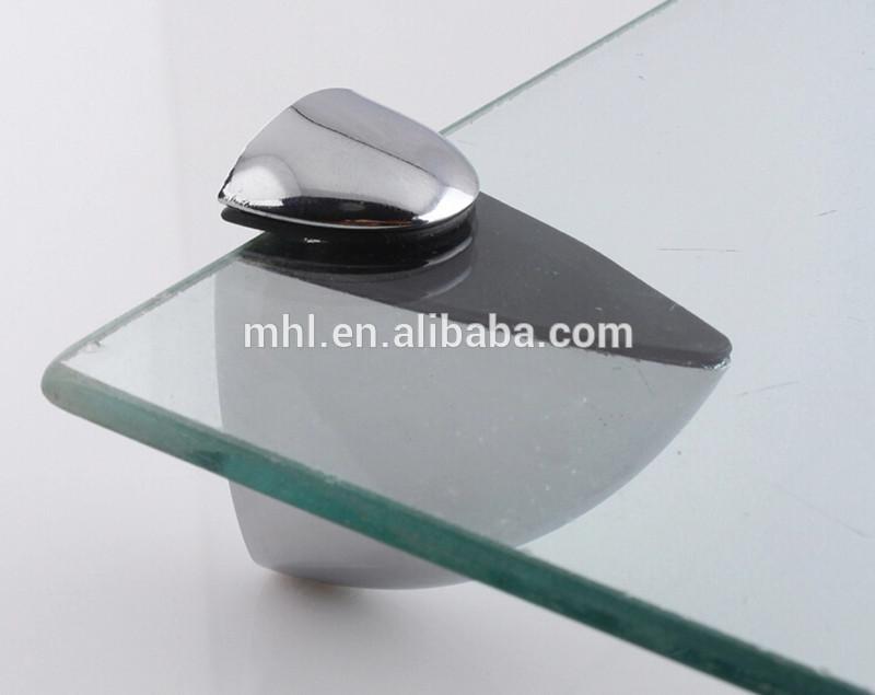 clip art black and white Glass clip. Zinc alloy holder shelf.