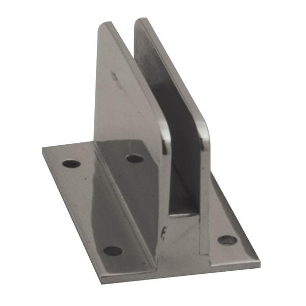 clip stock Flat back f architectural. Glass clip.