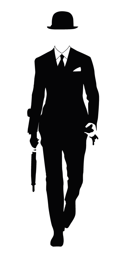 vector black and white download Gentleman and investment banker