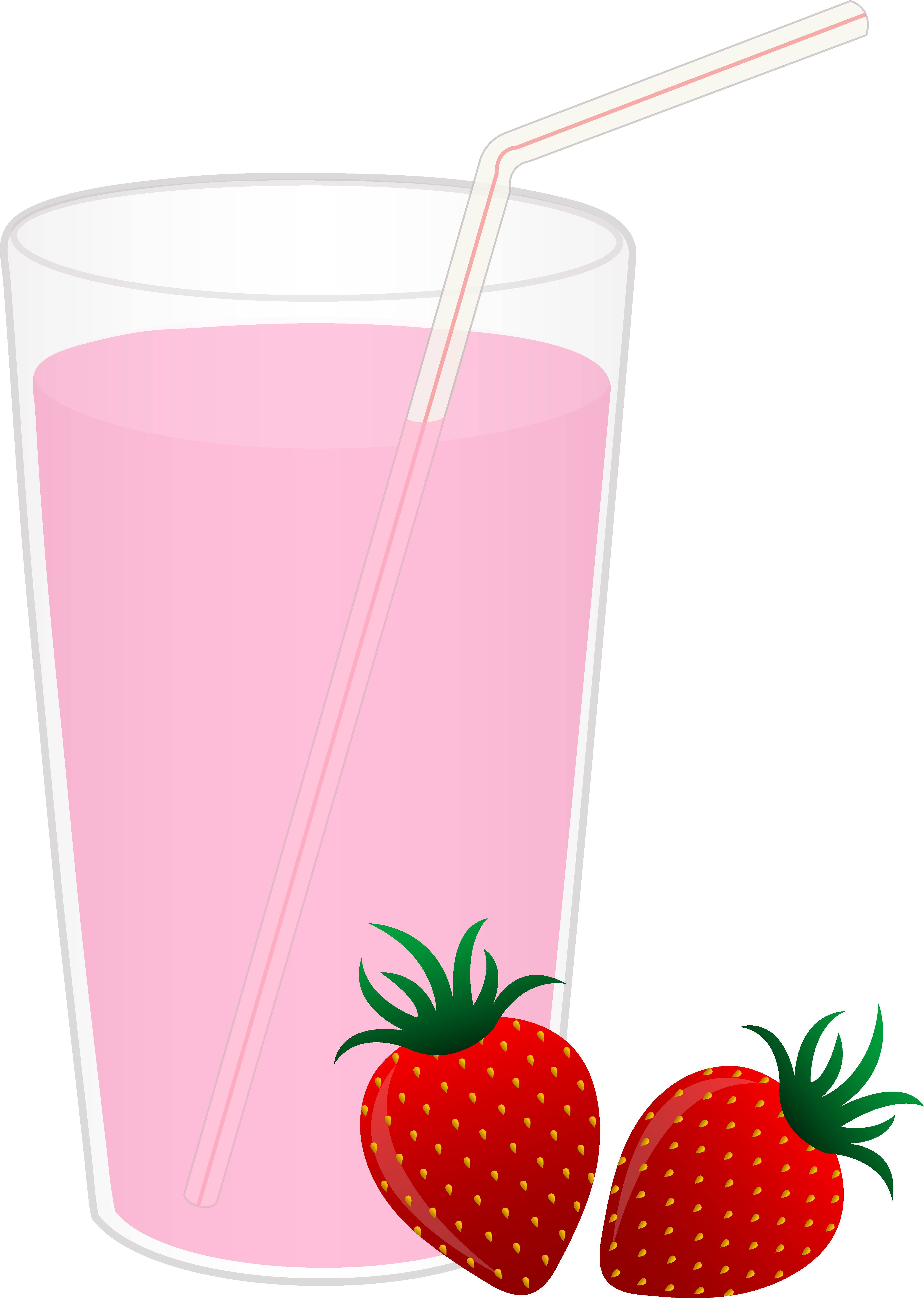 png freeuse Glass of Strawberry Milk
