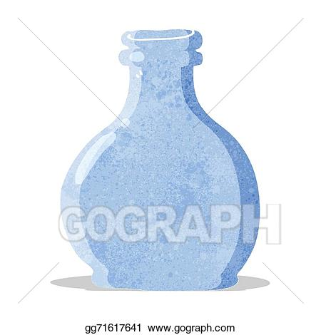 image royalty free stock Glass vase clipart. Vector stock cartoon old