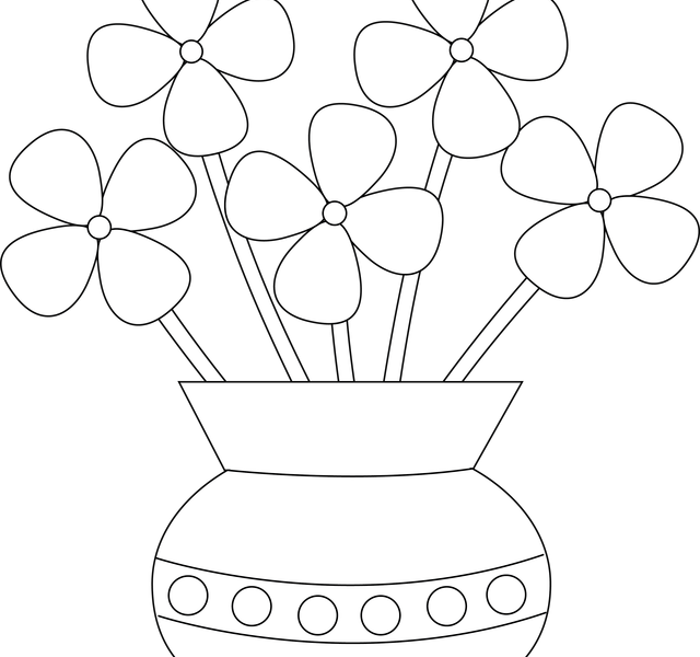 vector free download Glass vase clipart. How to draw flowers