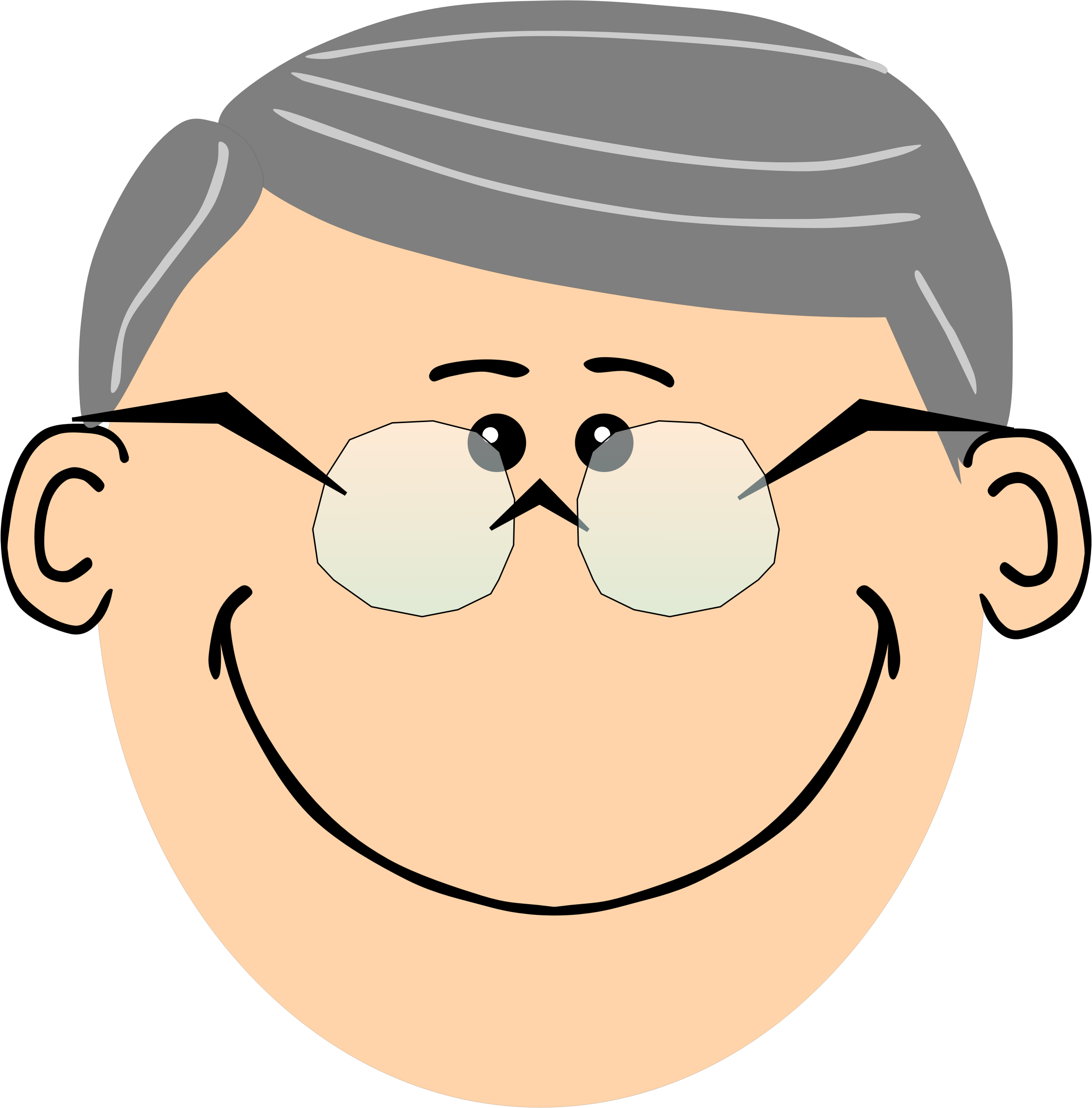 jpg stock Grandparent clipart head. Grandpa with spectacles big