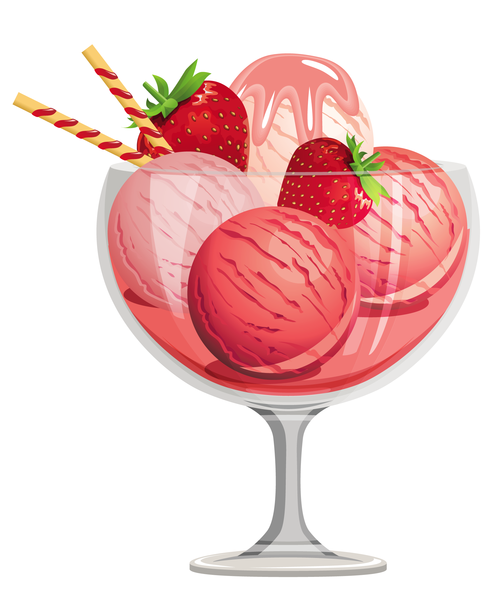 vector freeuse download Sundae clipart glass. Free clip art ice