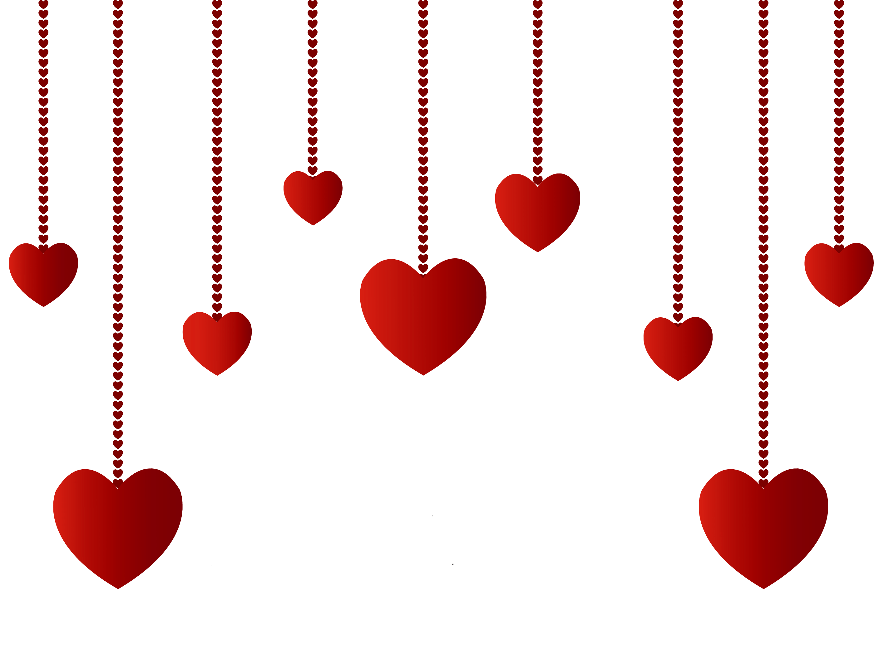 vector transparent Hearts decoration png picture. Valentine vector hanging heart