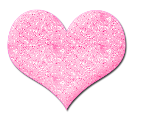 image black and white stock Glitter Heart Clipart