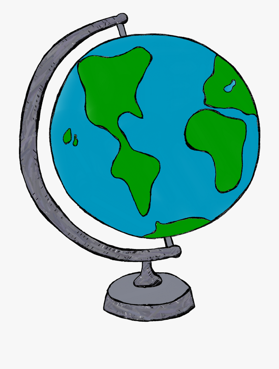 image library Globe clipart. Earth black and white