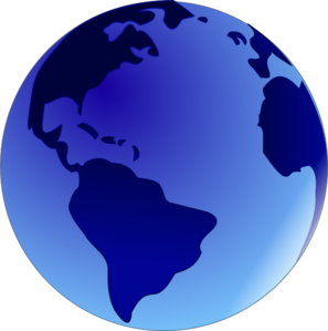 svg royalty free library Globe clipart. Blue