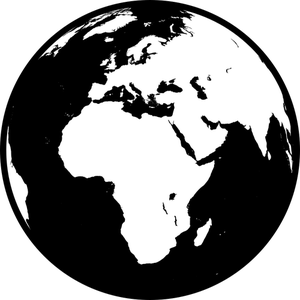 picture library library World black and white. Globe clipart