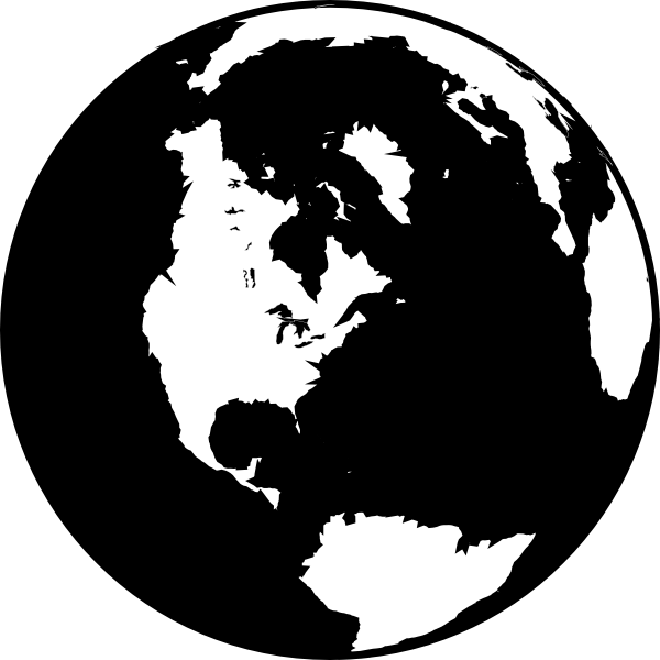 image library library Globe clipart black and white. Clip art at clker.